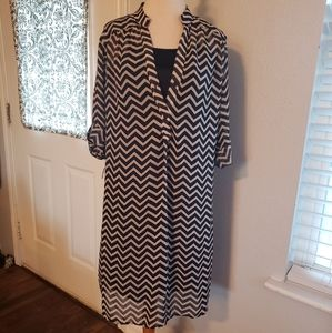 TACERA Chevron dress